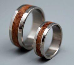 Montpelier  Wooden Wedding Rings by MinterandRichterDes on Etsy, $390.00