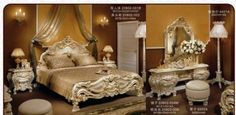 Dreamy Luxury Vintage looking Bedroom Set