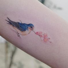 Search inspiration for a Minimal tattoo. Bff Tattoos, Mum Tattoo, Side Tattoos, Small Tattoos, Hawk Tattoo, Tattoo Bird, Tatoos, Watercolour Tattoos, Watercolor Bird