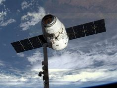 Dutch astronaut Andre Kuipers took this picture of the SpaceX Dragon cargo craft just before its release from the International Space Station's robotic arm today.