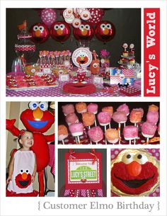 Elmo, Sydney, Sesame Street, Party Ideas, Cake Pops, Decorations