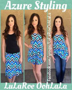 LuLaRoe Azure Styling! 3 ways to wear 1 Skirt.