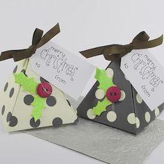 Como hacer cajitas para dulces : cosascositasycosotasconmesh gift boxes, craft, chocolates, christmas birthday, paper box, buttons, gift idea, box templates, pyramid box