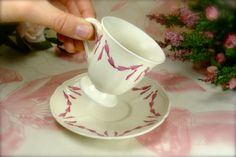 Classic Wedgewood Ivory and Pink Demitasse / by HappyGalsVintage