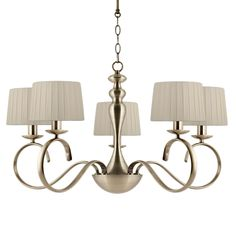 Elea 5 Light Antique Brass Fitting with Shades Office Lighting, Shop Lighting, Outdoor Lighting, Brass Fittings, Lighting Online, Antique Brass, Chandelier, Shades, Indoor