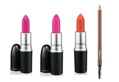 Maquiagem de novela: descubra os produtos da M.A.C que estão bombando - Batons Show Orchid, Candy Yum Yum e Tropic Tonic, R$ 73 cada; Lápis de sobrancelha Redhead veluxe , R$ 99