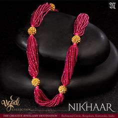 The Creative Jewellery Destination Pearl Necklace Designs, Gold Earrings Designs, Beaded Jewelry Designs, Gold Jewellery Design, Bead Jewellery, Beaded Wedding Jewelry, Jewellery Sale, Ruby Jewelry, Ring Designs