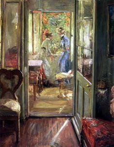 Fritz von Uhde (German, 1848-1911) - Girls on the Veranda, 1901