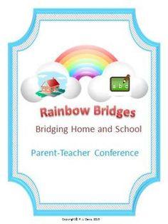 Rainbow Parent-Teacher Conference Templates