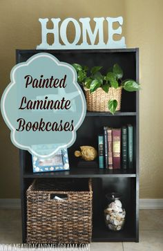 painted laminate bookcases