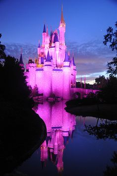 Cinderella Castle at Sunrise - Walt Disney World Resort in Florida