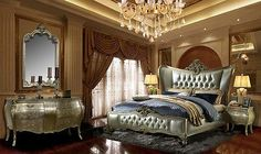 Luxurious Tufted Wing Back Bedroom Set Queen HD 200 5pc.Free Shipping!