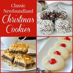 A simple collection of some of the most popular cookie recipes from my childhood Christmases in Newfoundland. Christmas Treats, Christmas Baking, Christmas Cookies, Christmas Recipes, Christmas Time, Holiday Treats, Xmas, Baking Recipes, Cookie Recipes