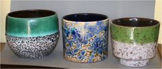 3 different shapes and glazes by Marei Keramik