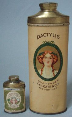 Vintage talc tins from Colgate
