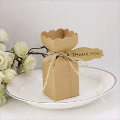Bbshop Pack of 50 Vase Shaped Kraft Favor Gift Boxes with Twines and Thank you TagsCandy Cookies Gift Wrap Brown Boxes For Party Wedding Bridal Shower Christmas Favor >>> To view further for this item, visit the image link.(It is Amazon affiliate link) #GiftWrappingIdeas