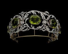 Tiara of the Archduchess Isabelle of Austria Diamonds and peridots Circa 1825 Albion Art Collection,