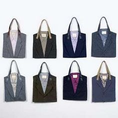 Recycled Suit Tote Bags are Professionally Fashionable #Jewelry trendhunter.com