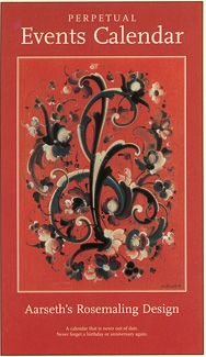 Aarseth's Rosemaling Design Perpetual Events Calendar | Penfield Books