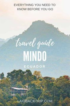 Mindo Travel Guide | Read our complete guide on best things to do in Mindo, Ecuador. Experience cloud forest, do bird watching, hike along Nambilla waterfalls, take a ride by cable car, admire butterflies, taste chocolate, coffee or do adventure activities, everything only 2 hours travel from the capital Quito. | #mindo #ecuador #cloudforest #wildlife #waterfalls
