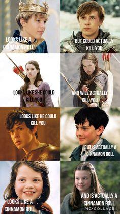 My take on the Pevensies😂 Movie Memes, Book Memes, Movie Tv, Narnia Cast, Narnia 3, Book Tv, Book Nerd, Chronicles Of Narnia Books, Narnia Movies