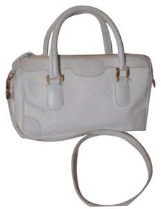 82cb012647f2f2 Gucci Doctor's Speedy/Boston Gold Hardware Footed Bottom Satchel in white  small G logo print