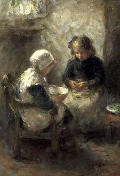 Shelling Peas - Robert Gemmell Hutchison (1855 – 1936, Scottish)