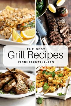 Healthy summer grill recipes to make everyone happy! From chicken and shrimp to steak and vegetables, you'll find easy and delicious recipes here! Summer Grill Recipes, Best Grill Recipes, Healthy Grilling Recipes, Easy Summer Meals, Healthy Summer Recipes, Top Recipes, Real Food Recipes, Vegetarian Recipes, Recipies