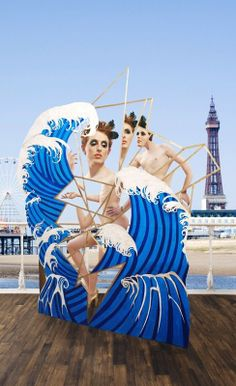 Abstracted cross dressers dance behind a Blackpool pleasure beach cut-out, in 'La JohnJoseph' by Michel Diedrix: http://www.dazeddigital.com/artsandculture/article/19307/1/read-an-excerpt-from-everything-must-go-by-la-johnjoseph