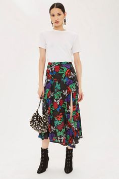 aba864121f02b Raven Floral Midi Skirt - New In Fashion - New In