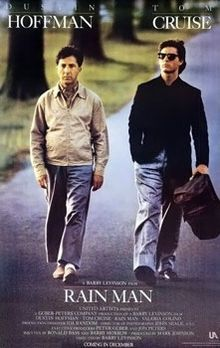 Rain Man Poster: I'll always remember this film because I was an extra and watched Dustin Hoffman and Tom Cruise do the final seen from 2 feet away. Film Movie, Film Gif, See Movie, Movie Cast, Video Film, Rain Man Film, Tom Cruise, Kino News, Bonnie Hunt