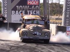 Guess what!? The Pickup From Pixar's Cars Is Real And It Does Colossal Burnouts. Hit the pic to watch 'Mater' burn some tires... #autoawesome