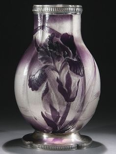 Lot:540: EMILE GALLE FRENCH CAMEO & SILVER ART GLASS VASE, Lot Number:540, Starting Bid:$2000, Auctioneer:Jackson's Auction, Auction:540: EMILE GALLE FRENCH CAMEO & SILVER ART GLASS VASE, Date:06:00 AM PT - May 23rd, 2012