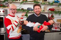 Chris Evans will join James Martin on his Saturday Morning at Christmas show this weekend, and his newborn twins are set to make their television debut. Chris Evans Tumblr, Chris Evans Funny, Newborn Twins, Twin Babies, Dog Treat Recipes, Healthy Dog Treats, Beard Winter, Funny Interview, Hot Beards