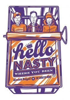 Beastie Boys | Illustrator: Travis Price: Melbourne Victoria Australia Vector #illustration #vector #beastie boys #risograph