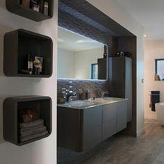 meuble de salle de bains ceylan 140 cm more salle de bain gris ...