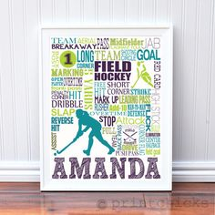 Field Hockey Personalized Print - PrintChicks