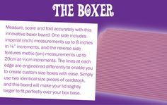 BoxerBoard - Craft Supplies, Craft CDs & Tools for Card Making & Scrapbooking - Crafters Companion