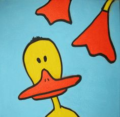 Duck kids painting