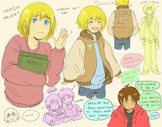 This is really cute. Attack On Titan Ships, Attack On Titan Anime, Eren X Armin, A Beast, Ereri, Manga Games, Light Novel, Alter, Animal Crossing
