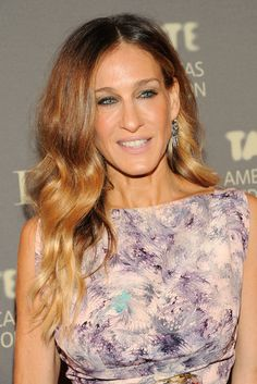 Sarah Jessica Parker's ombré strands have that beachy feel.  See more celebrity ombré styles when you click!