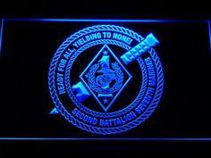 US Marine Corps 2nd Battalion 7th Marines LED Neon Sign www.shacksign.com