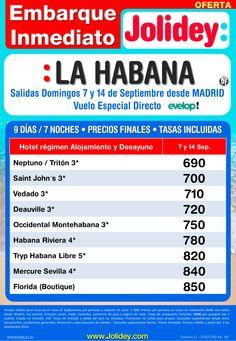 Embarque Inmediato a La Habana desde 690€. Salidas 7 y 14 Septiembre desde Mad con EVELOP! ultimo minuto - http://zocotours.com/embarque-inmediato-a-la-habana-desde-690e-salidas-7-y-14-septiembre-desde-mad-con-evelop-ultimo-minuto/