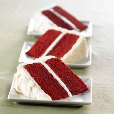 Wondering how to make red velvet cake? Try our moist red velvet cake topped with the best frosting for red velvet cake — cream vanilla cheese frosting.