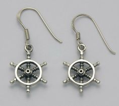 Stainless Steel Nautical Ships Wheel French Wire Earrings Wildthings Ltd.. $14.95. A Unique and Inspiring Design. Can be cleaned with only warm water and a clean cloth. Does not tarnish or oxidize, hypoallergenic. Made from strong and durable Stainless Steel. Far more durable than either gold or silver