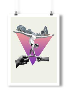 Modern Art Collage Fine Art Print on Etsy   Modern Geometric Art Print Wall Decor by ArtisticSideOfLife, $28.00