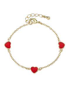 Twin Stars Jewelry Sweet Triple Heart Bracelet