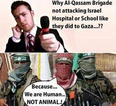Why Al-Qassam brigade not attacking Israeli schools, Hospitals like they did to GAZA???