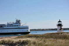 Nantucket Ferry and Brant Point Lighthouse, Nantucket