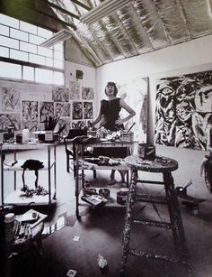 Lee Krasner  The Springs, Long Island, New York  1962  Photo: Hans Namuth